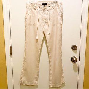 🎉Sanctuary Beachcomber 100% Linen Pants in Cream